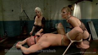 Revenge of the Femdoms tied domination femdom divinebitches beg goddess bound blonde kinky domme tease tattoo bdsm bondage punish fetish