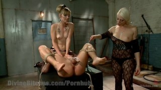 Revenge of the Femdoms tied domination femdom divinebitches beg goddess bound blonde kinky domme tease tattoo bdsm bondage punish natural tits fetish