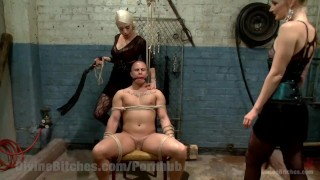 Revenge of the Femdoms  tied tease bdsm punish femdom goddess blonde tattoo fetish domination divinebitches bound kinky domme bondage natural tits beg