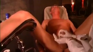 Sexy Dominatrix Squeezes Guys Balls and Fingers His Ass torture femdom fetishes kink german femdom ballbusting