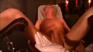Sexy Dominatrix Squeezes Guys Balls and Fingers His Ass  kink ballbusting german femdom femdom fetishes torture