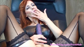PEG ME SHANADFAY!! Canada's Dirtiest MILF  strap on big tits amateur wife dildo femdom canadian jerking mom toys milf shandafay milking mother red head strap on femdom