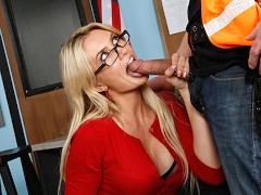 Hot teacher Gigi Allens gets pounded by construction worker