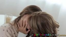 Girlfriends Two Czech lesbians in knee high stockings having orgasms