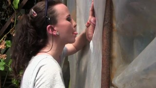Amateur Young Milf Gloryhole Blowjob&Deepthroat Cumshot by Sylvia Chrystall  bj outdoor mom amateur blowjob cfnm gloryhole cumshot milf handjob brunette facial adultfilmschool hot eurobabe queen