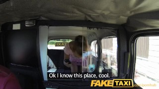 Preview 1 of FakeTaxi Petite hot czech girl in London cab trip