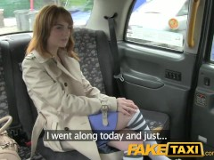 FakeTaxi – Innocent red head gets taxi scamed