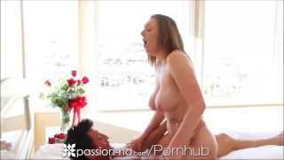Passion-HD Teen's tits bounce as she gets fucked hard
