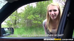 Stranded Teens - Young Euro Blonde needs a lift