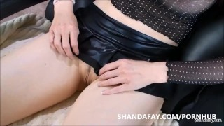 Pegged by Shanda Fay!! The Best Pegging MILF Massage Ever?! dildo pegging femdom shandafay canadian kink big tits pegged amateur babe woman fuck man ass canada brunette fetish housewife busty