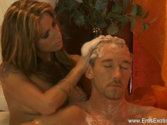 Exotic Golden Blonde MILF Massages