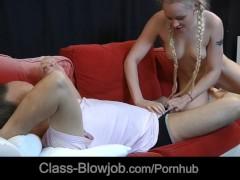 Lolita Taylor makes very tender skillful blowjob