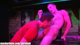 Markie More Stripping at Stock Bar! Then gets an amazing Blowjob