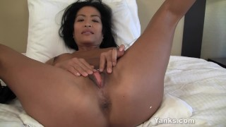 Asian MILF Tia Vibrating Her Pussy  big-orgasm masturbate solo sexy-feet fingers multiple-orgasms softcore pierced mother tasting masturbation big-tits mom amateur busty wet