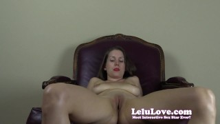Lelu Love-Sorority Girl Cheerleader FemDom SPH  denial homemade teasing tease cheerleader hd humiliation femdom amateur solo sph lelu pov fetish domination natural-tits brunette lelu-love