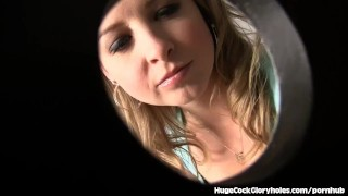 Sunny Lane Sucks A Big Cock At Gloryhole  real orgasm clit rubbing public bathroom big cock babe blonde gloryhole pornstar cumshot big dick handjob petite glory hole hugecockgloryholes shaved pussy natural tits bubble butt cum in mouth masturbating