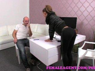 FemaleAgent. Teasing agent filled full of cum in sexy casting