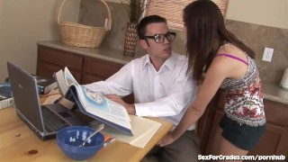 Preview 2 of Teen Slut Would Rather Fuck Her Tutor Than Study
