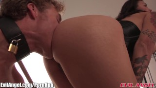 EvilAngel Dana Vespoli Femdom Ass Massacre 3Way  ass fuck big tits ass slave femdom asian blowjob pornstar tattoo small tits skinny toys rimming evilangel 3some threesome natural tits blow job armpit licking