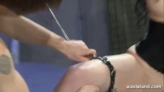 Preview 4 of Black haired sub girl gets flogged and dildo inserted