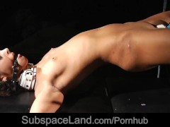 Vivien tamed with biting whips and hard masturbation while tied up