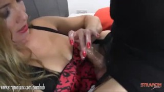 Femdom Milf fucks hot tight crossdressers ass with big black strapon crossdresser ass femdom hardcore milf amateur strapon cumshot tranny sex toys ass fuck fetish adult toys straponjane