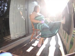 Curious Clover Voyeur Balcony Masturbation