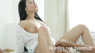 Petite amateur pussy stretched by big cock