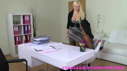 FemaleAgent. Busty curvaceous new agent in her first sex tape