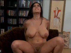 Busty Raylene gives head in POV
