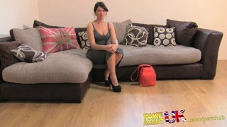 Preview 2 of FakeAgentUK Gobby fit Brit shows fucking amazing blowjob skills