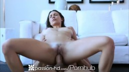Passion-HD Sexy couple switch their yoga for a fuck workout