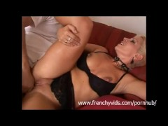 First time sex on cam for this french amateur