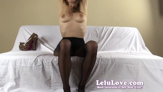 Lelu Love-FemDom Ruined Slave Humiliation  high heels homemade hd humiliation chastity foot femdom amateur solo instruction fetish domination pantyhose brunette feet ruined natural tits lelu love