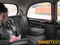 FakeTaxi Moody dark haired british girl fucked in the cab