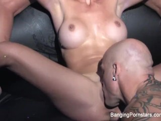 Derrick fucks Dani Daniels and a hot blonde