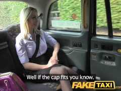 FakeTaxi Blonde with huge tits gets fucked on taxi bonnet