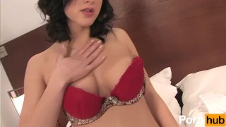 Natural Tits Brunette Strips And Fingers Herself