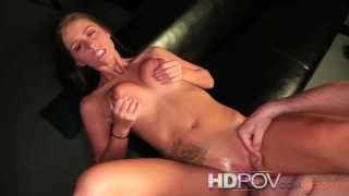 HD POV Whitney Westgate sexy striptease and cock riding