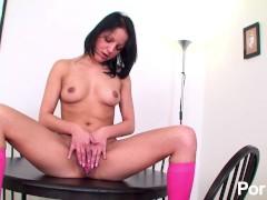 Petite solo girl teasing