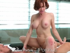 PureMature Horny redhead just wants to suck and get fucked
