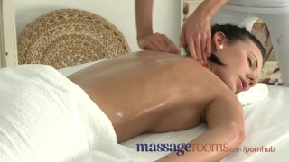 Preview 1 of Massage Rooms Beautiful big tit girls learn how to have real lesbian fun