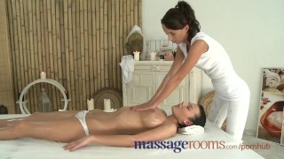 Preview 2 of Massage Rooms Beautiful big tit girls learn how to have real lesbian fun