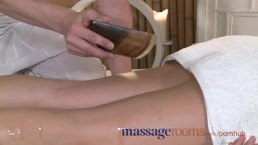 Massage Rooms Horny blonde teens tight shaved holes are fucked deeply