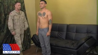 Sergeant Miles fucks Civilian Reid videos all-american latino muscle hot sergeant-miles