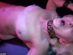 Old granny likes BDSM and young girl likes masturbating