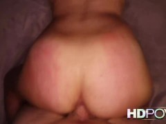 HDPOV watch your cock slide into her shaven pussy