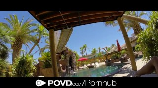 HD - POVD Hot teen is fucking by the pool in POV