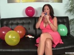 Big-Titted Milf Sucks An Erected Dick