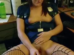 Halloween Police Slut Takes Daddy's BBC